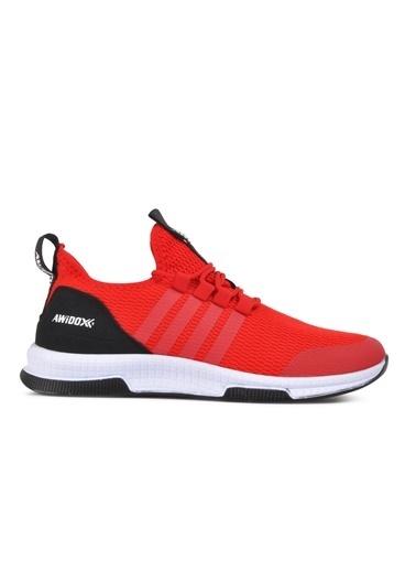 Awidox Awidox Awd053 M Siyah-Siyah Erkek Spor Ayakkabı Kırmızı